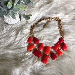 Chunky Necklace - red and orange